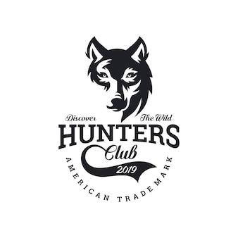 Волк винтаж логотип фондовой вектор