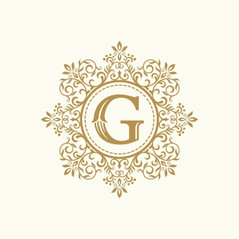ロイヤル高級紋章クレストロゴデザインベクトルテンプレート