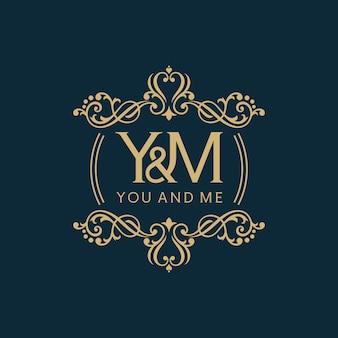 Винтаж и роскошный логотип