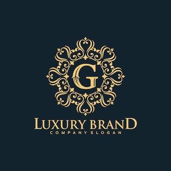 Золотой роскошный дизайн логотипа векторная иллюстрация