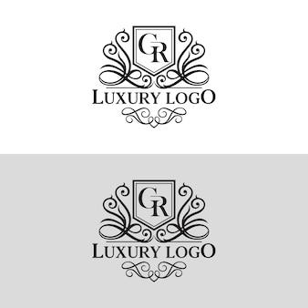 Роскошный логотип шаблон векторная иллюстрация
