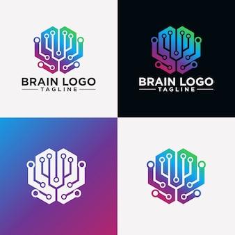 創造的な脳のロゴの画像
