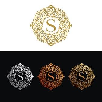 Винтаж и роскошный логотип шаблон