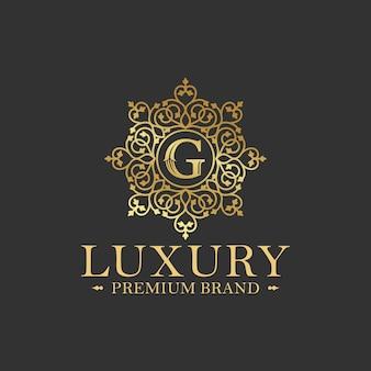 Золотая роскошь логотипа дизайн вектор шаблон
