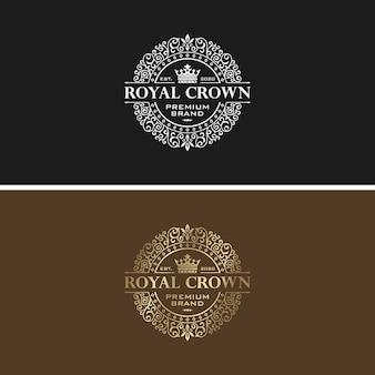 黄金の高級ロゴデザインベクトルテンプレート