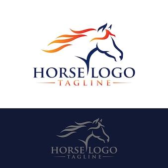 Шаблон логоса лошади стоковое изображение