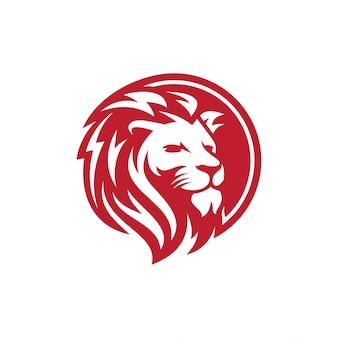 Лев логотип вектор шаблон