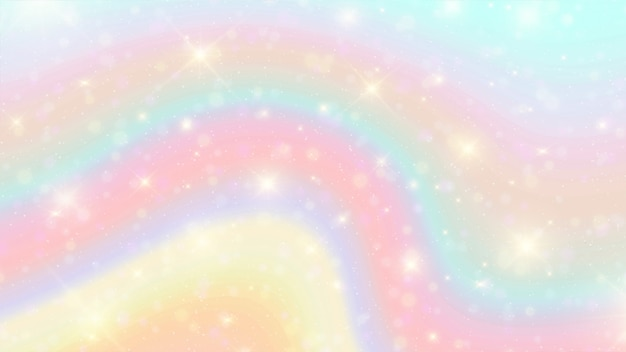 Акварель радуга боке фон.
