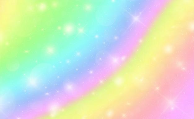 星と抽象的なボケ大理石の虹の背景