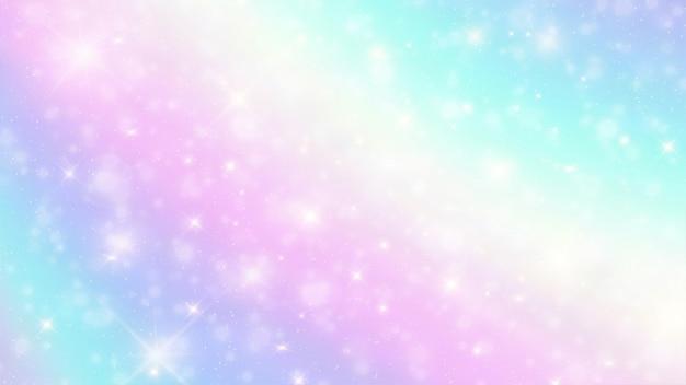 星とホログラフィックファンタジー背景のボケ味