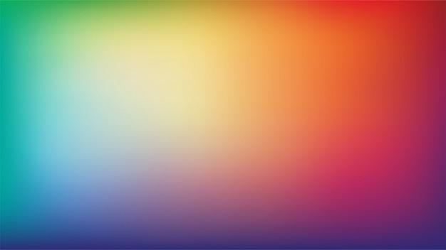 抽象的な虹色のぼやけグラデーションメッシュの背景色