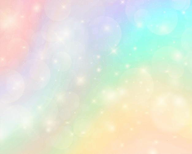 抽象的なカラフルな水彩虹の背景