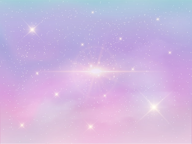 パステルカラーの夜空の背景