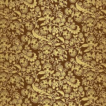 豪華な装飾的な花の壁紙
