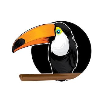 エキゾチックな熱帯鳥の熱帯雨林