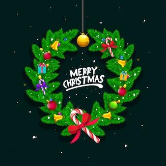 星のクリスマスの花輪