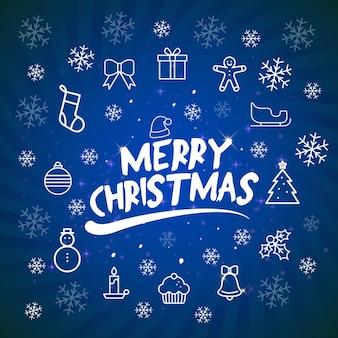 要素クリスマス背景青