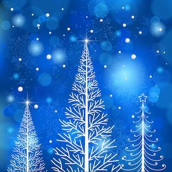 木のクリスマスコールドアイスクリーム
