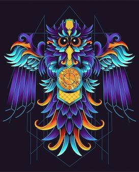 幾何学的なフクロウ