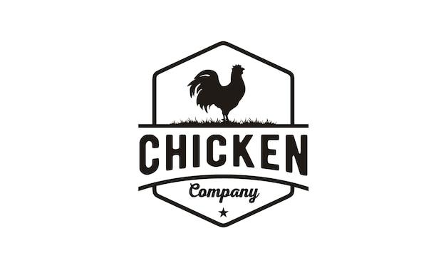 チキン/鶏ヴィンテージロゴデザイン