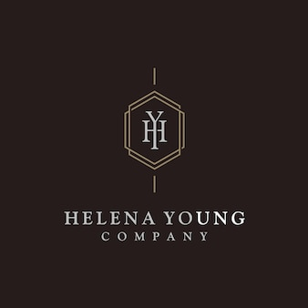 Элегантная роскошная начальная монограмма с логотипом
