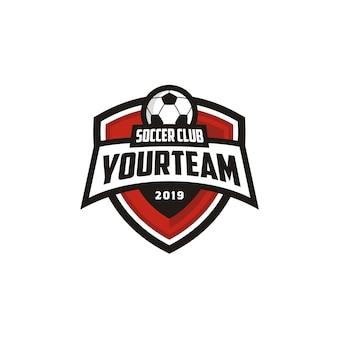 サッカーサッカークラブのエンブレムバッジロゴデザイン