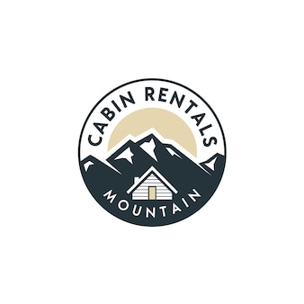 キャビン付き村の家賃ロゴのマウンテンビュー