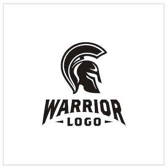 Логотип спартанский воин шлем