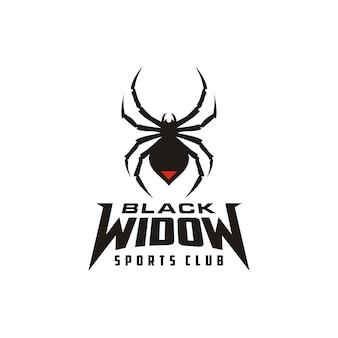 Силуэт черная вдова паук насекомое членистоногие эмблема спорт логотип