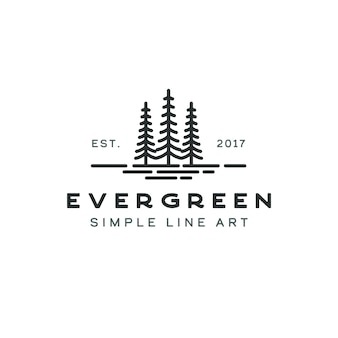 Сосна вечнозеленая ель болиголов ель хвойное дерево кедр хвойный кипарис лиственница сосновый лес винтаж ретро хипстерская линия арт логотип