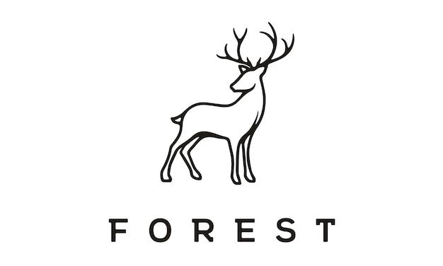 美しいエレガントな鹿のロゴデザイン