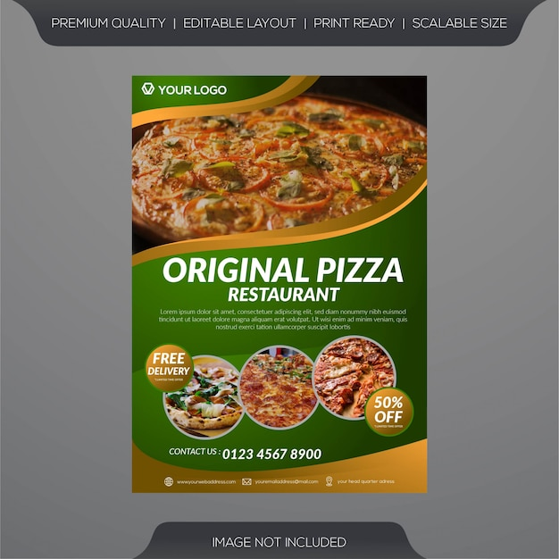 Флаеры для пиццерий