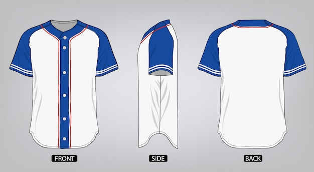 野球シャツのデザインテンプレート
