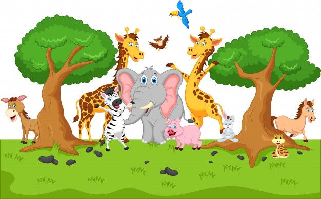 面白い動物の漫画