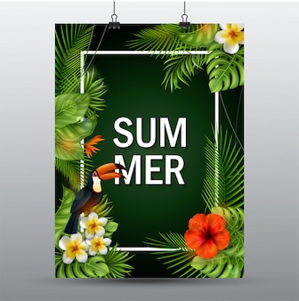 夏の販売のバナー。
