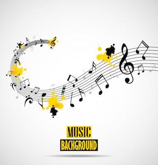 メモ付き抽象的な音楽の背景