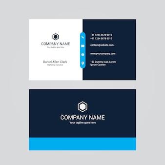 Современный дизайн профессиональной визитной карточки