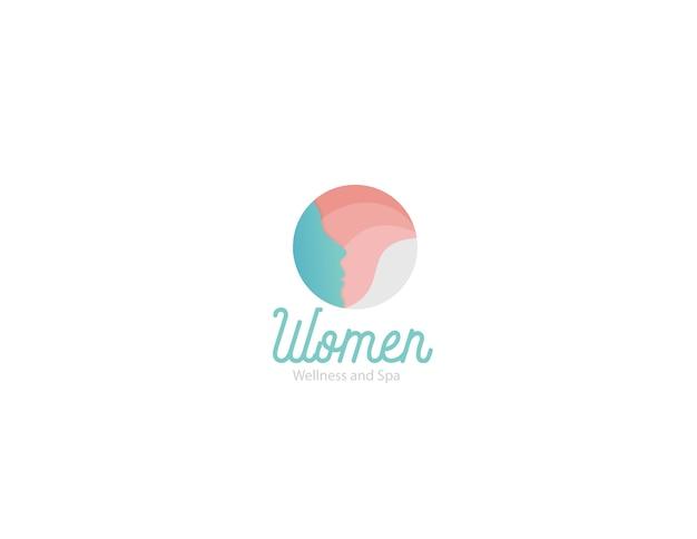 女性の美しさとスパのロゴ