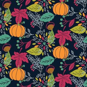 Осенний тематический бесшовный фон