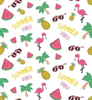夏のテーマのシームレスな背景