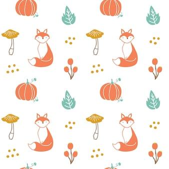 秋のテーマプリントとパターン