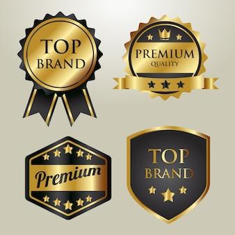 Золотой значок бренда