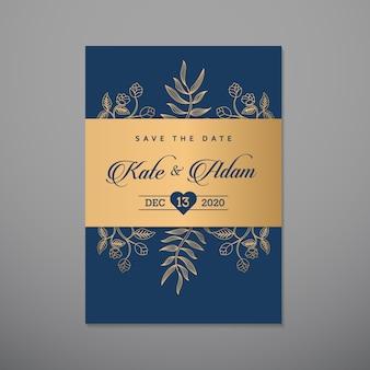 Шаблон дизайна свадебного приглашения
