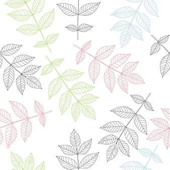 Тропические листья бесшовные модели
