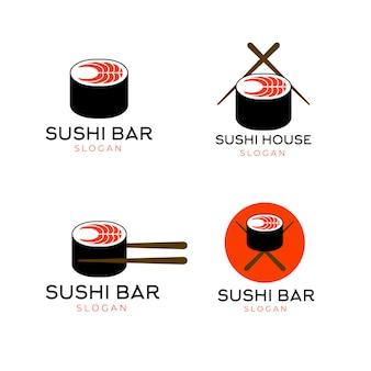寿司のロゴのテンプレート