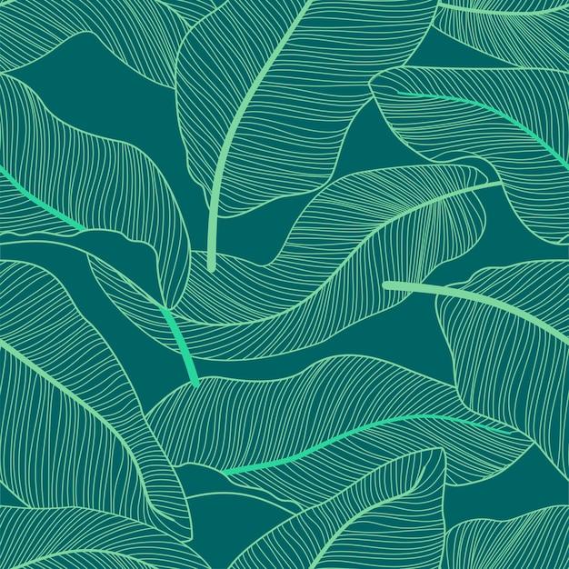 Тропический цветок бесшовный фон