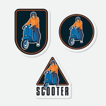 Эмблема значок скутер логотип