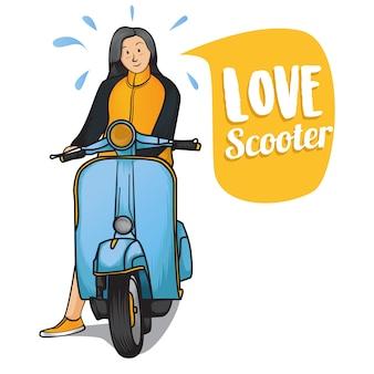 Любовь скутер