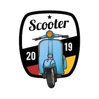 エンブレムバッジスクーター