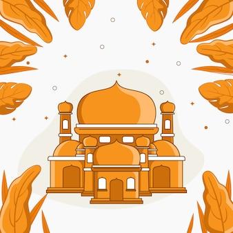 モスクの寺院の図